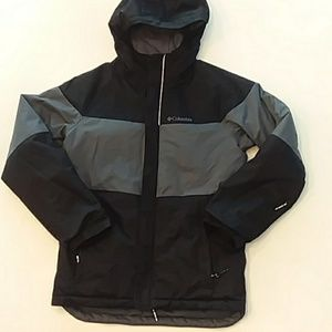 Columbia medium black grey ski snow warm jacket